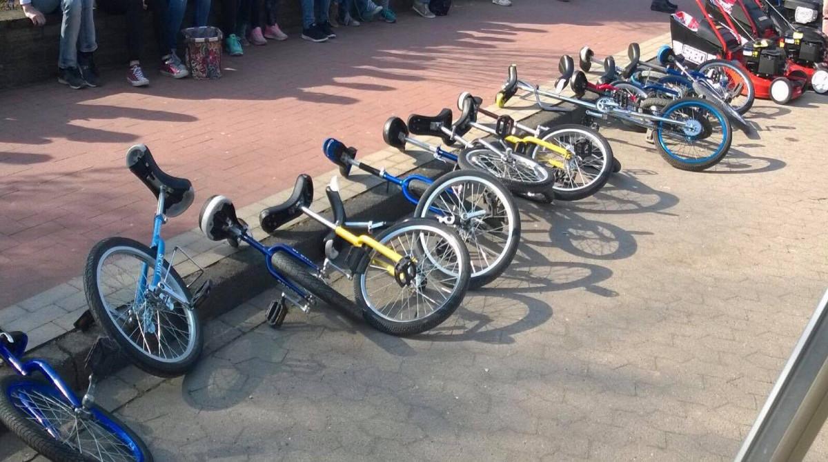 Turnen Einradfahren